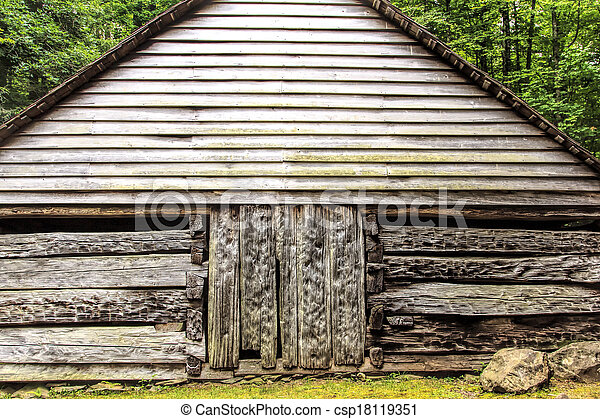 Log Cabin in the Woods - csp18119351