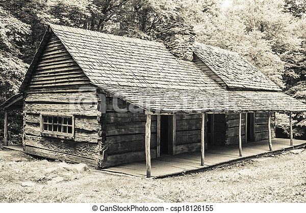 Log Cabin in the Woods - csp18126155