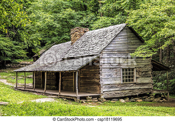 Log Cabin in the Woods - csp18119695