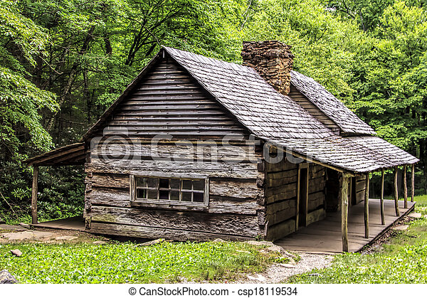Log Cabin in the Woods - csp18119534