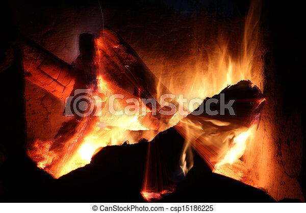 log fire - csp15186225