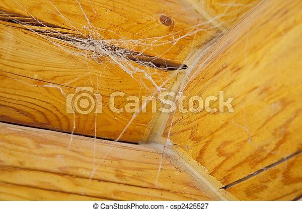Log Home Construction Detail - csp2425527
