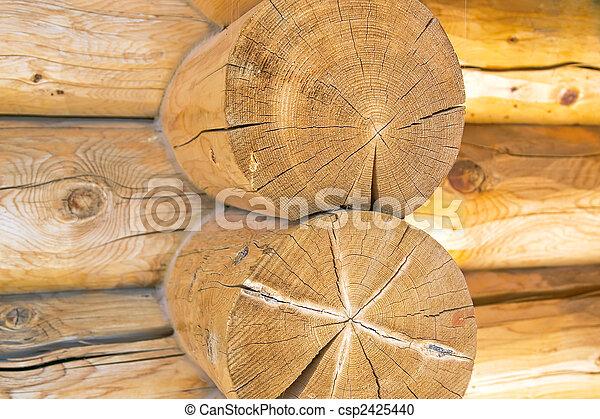 Log Home Construction Detail - csp2425440