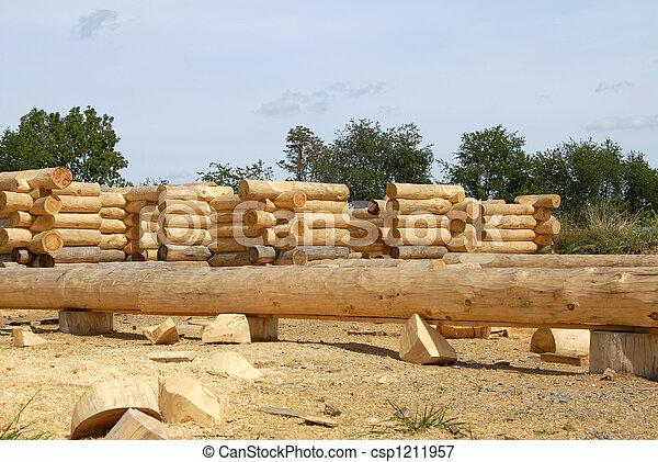 Log Home Construction - csp1211957