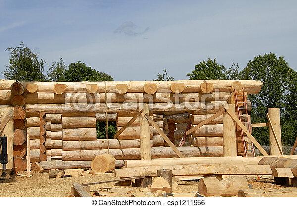 Log Home Construction - csp1211956