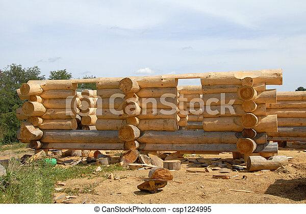 Log Home Construction - csp1224995