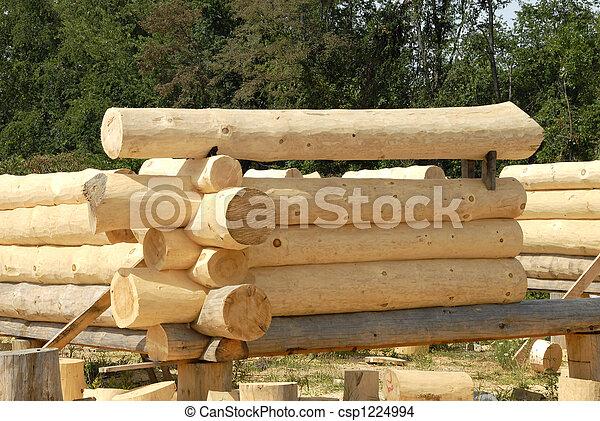 Log Home Construction - csp1224994