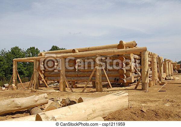 Log Home Construction - csp1211959