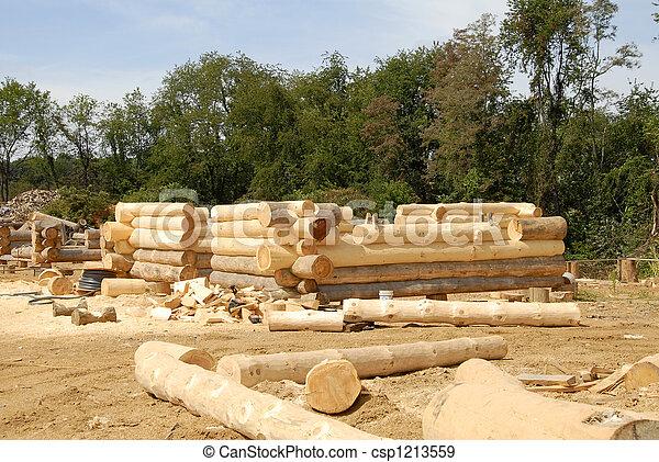 Log Home Construction - csp1213559