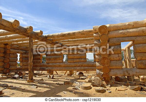 Log Home Construction - csp1219030