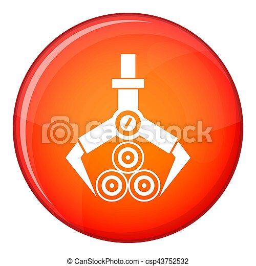 Log loader icon, flat style - csp43752532