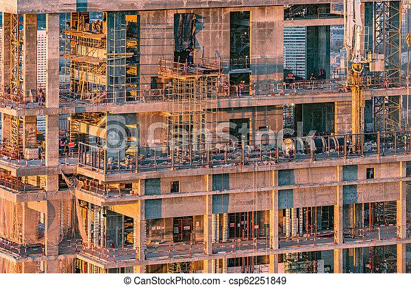 logement, site construction, construction., vue - csp62251849