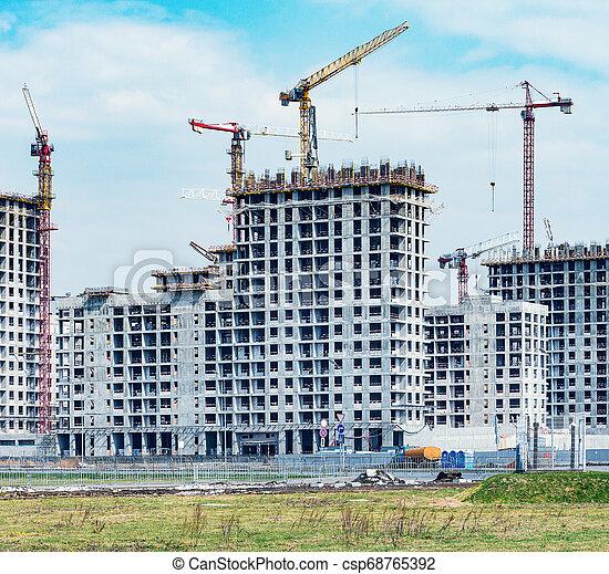 logement, site construction, construction., vue - csp68765392