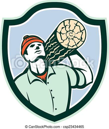 Logger Forester Carry Log Shield Retro - csp23434465