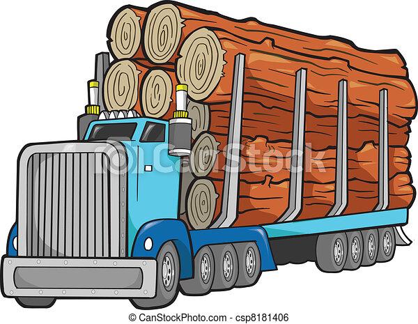 logging truck vector illustration art clip art vector search rh canstockphoto com log clip art picture log clip art free