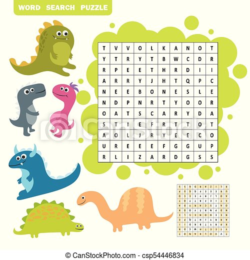 Logic Game For Learning English Find Dino Words
