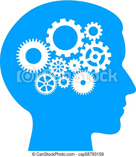 logical thinking process pictogram male logical thinking process