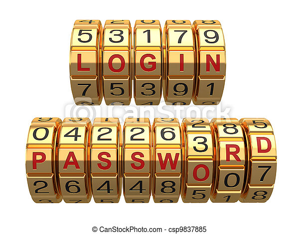 Login and  password as a combination system access - csp9837885