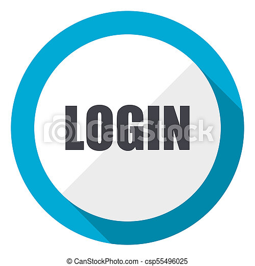 Login blue flat design web icon - csp55496025