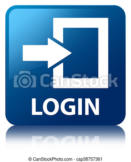 Login blue square button - csp38757361