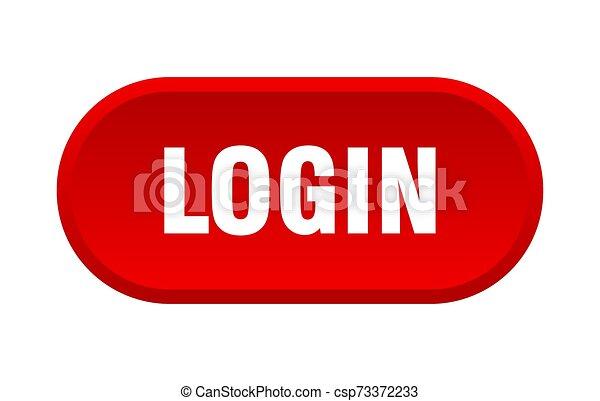 login button. login rounded red sign. login - csp73372233
