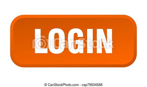 login button. login square 3d push button - csp79504568
