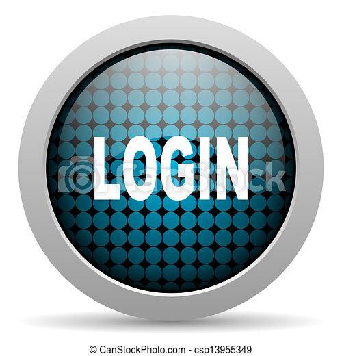login glossy icon - csp13955349
