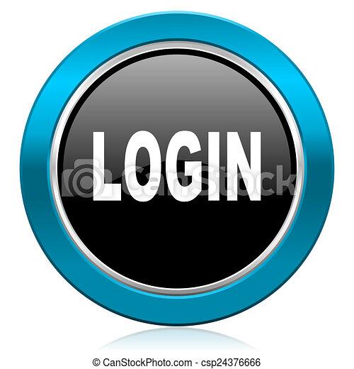 login glossy icon - csp24376666