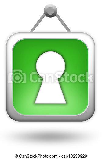 Login icon - csp10233929