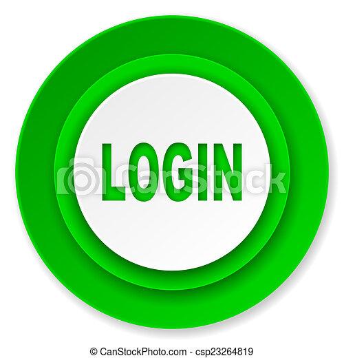 login icon - csp23264819