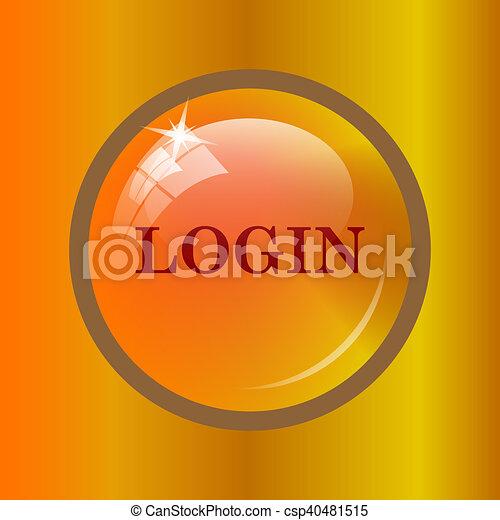 Login icon - csp40481515