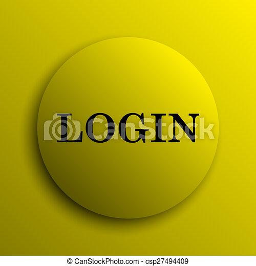 Login icon - csp27494409