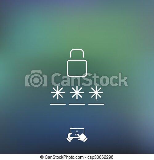 Login icon - csp30662298