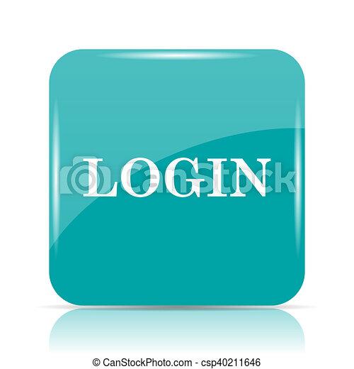 Login icon - csp40211646