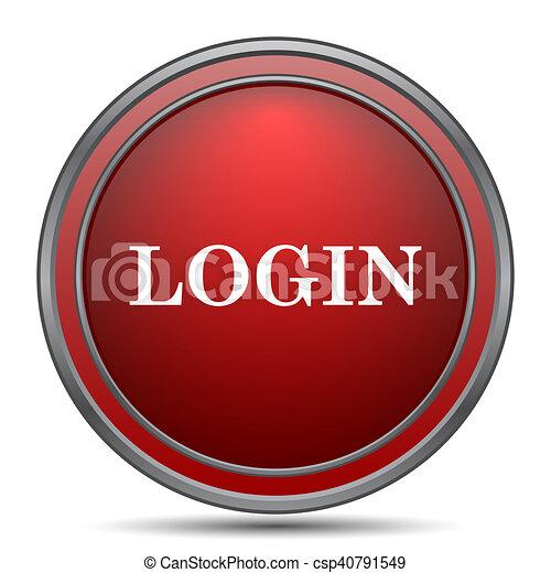 Login icon - csp40791549