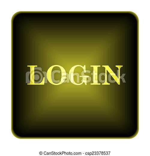 Login icon - csp23378537