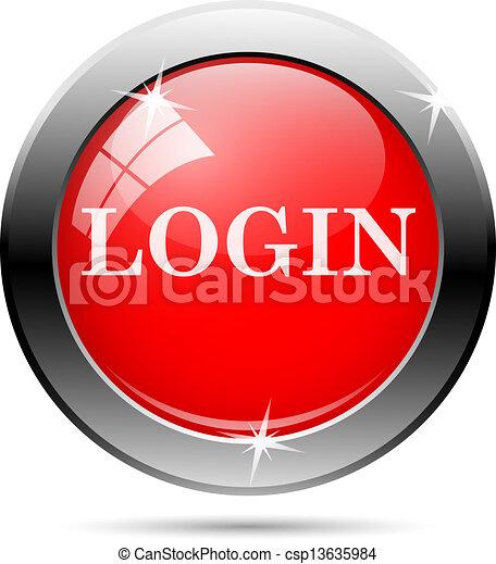 login icon - csp13635984