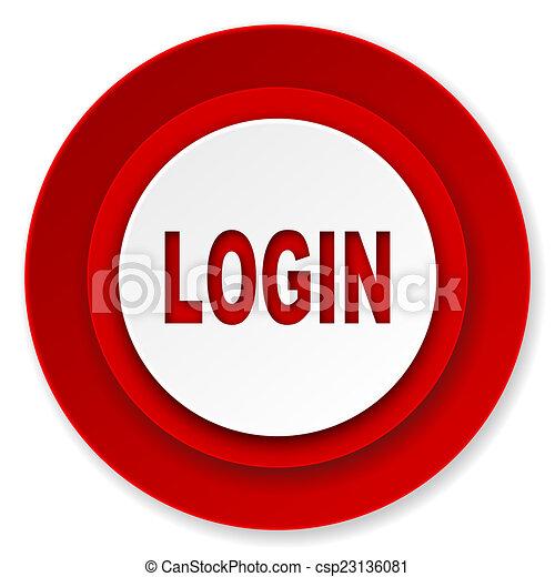 login icon - csp23136081