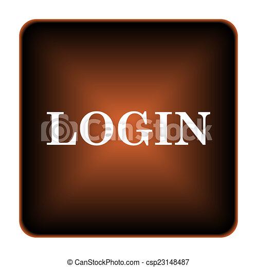 Login icon - csp23148487