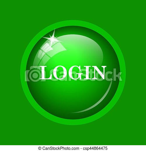 Login icon - csp44864475