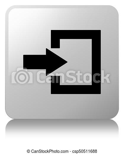 Login icon white square button - csp50511688