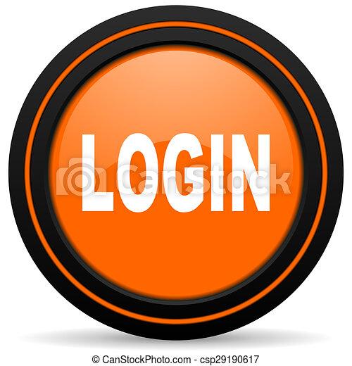 login orange icon - csp29190617