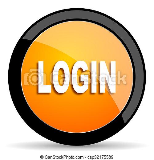 login orange icon - csp32175589