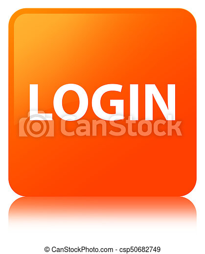 Login orange square button - csp50682749