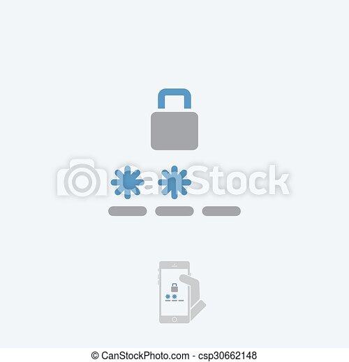 login, pictogram - csp30662148