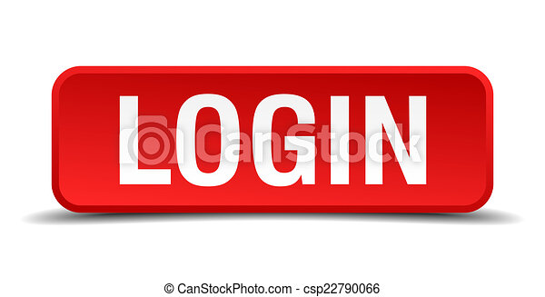 Login red 3d square button isolated on white - csp22790066
