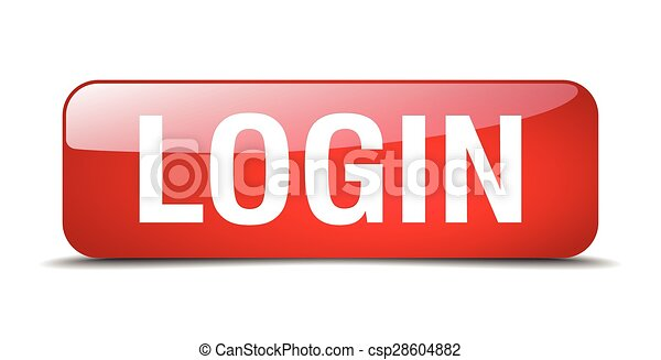 login red square 3d realistic isolated web button - csp28604882