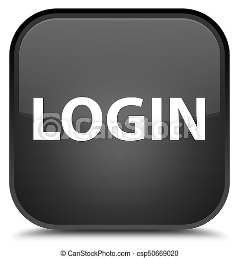 Login special black square button - csp50669020