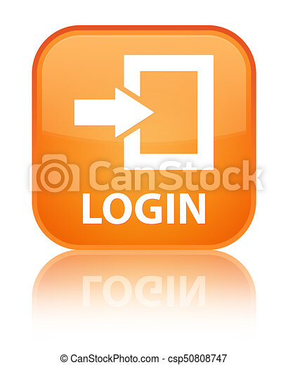 Login special orange square button - csp50808747
