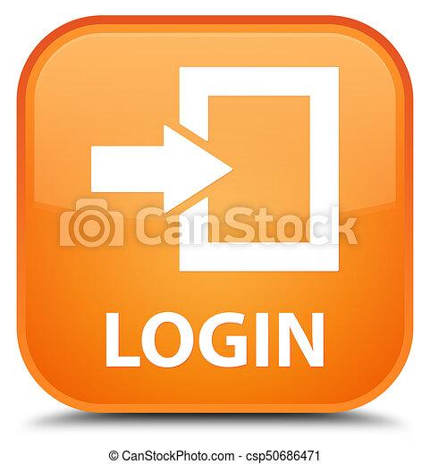 Login special orange square button - csp50686471